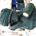 Detail of Dead Soldier in Wax