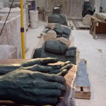 Interior of Foundry Showing Wax Casts