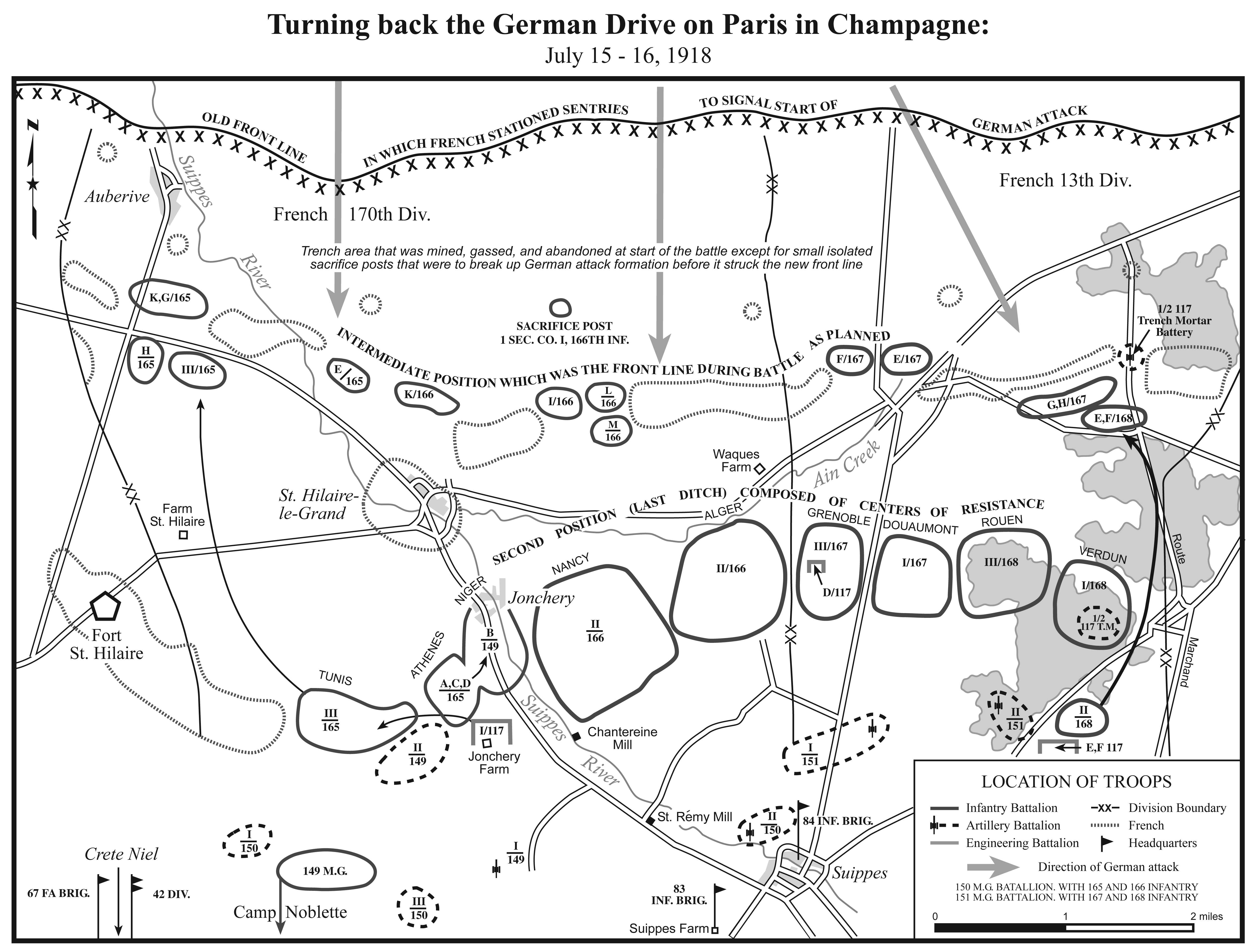 II.2. Turning the German Drive on Paris in Champagne.