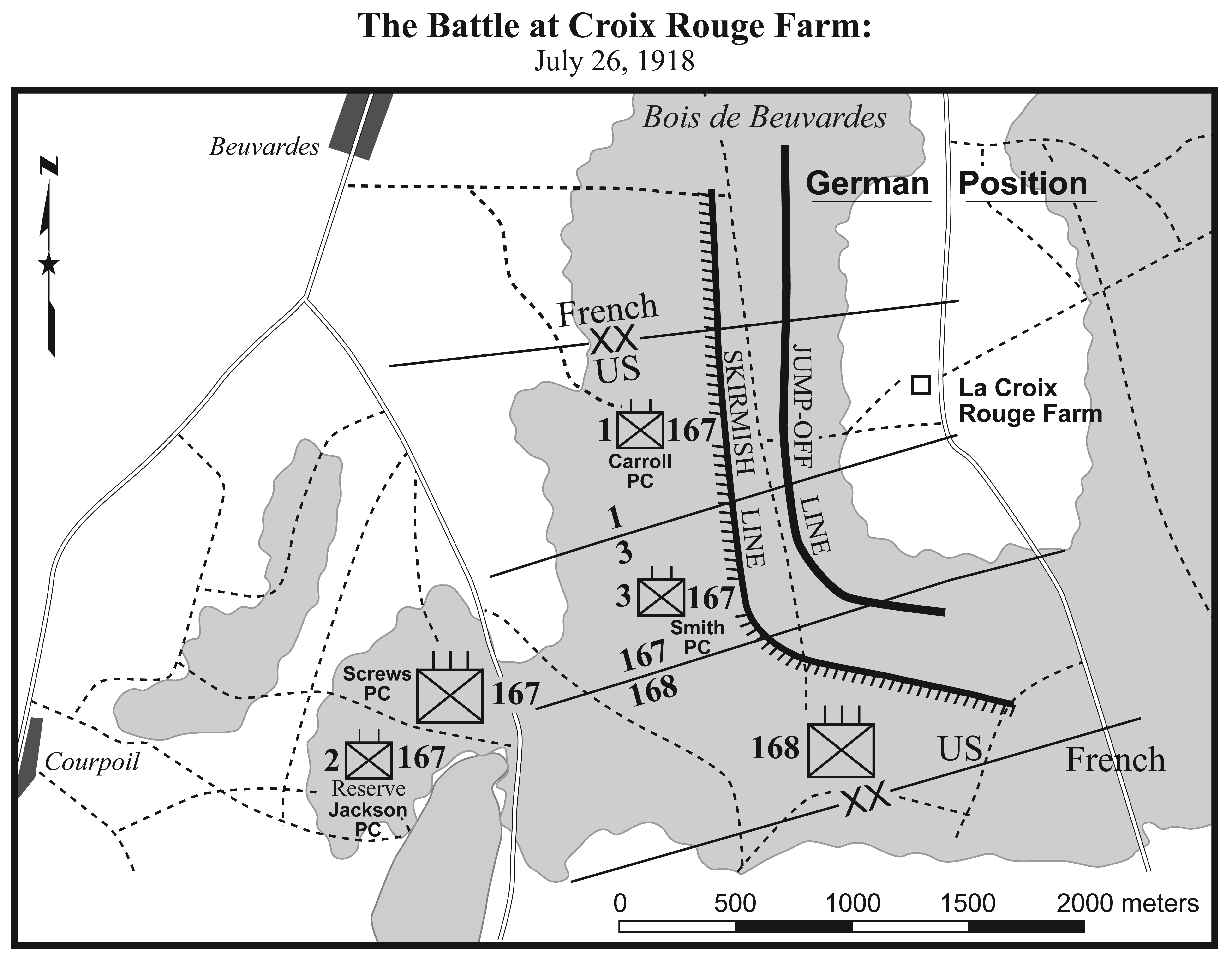 II.3. The Battle at Croix Rouge Farm.