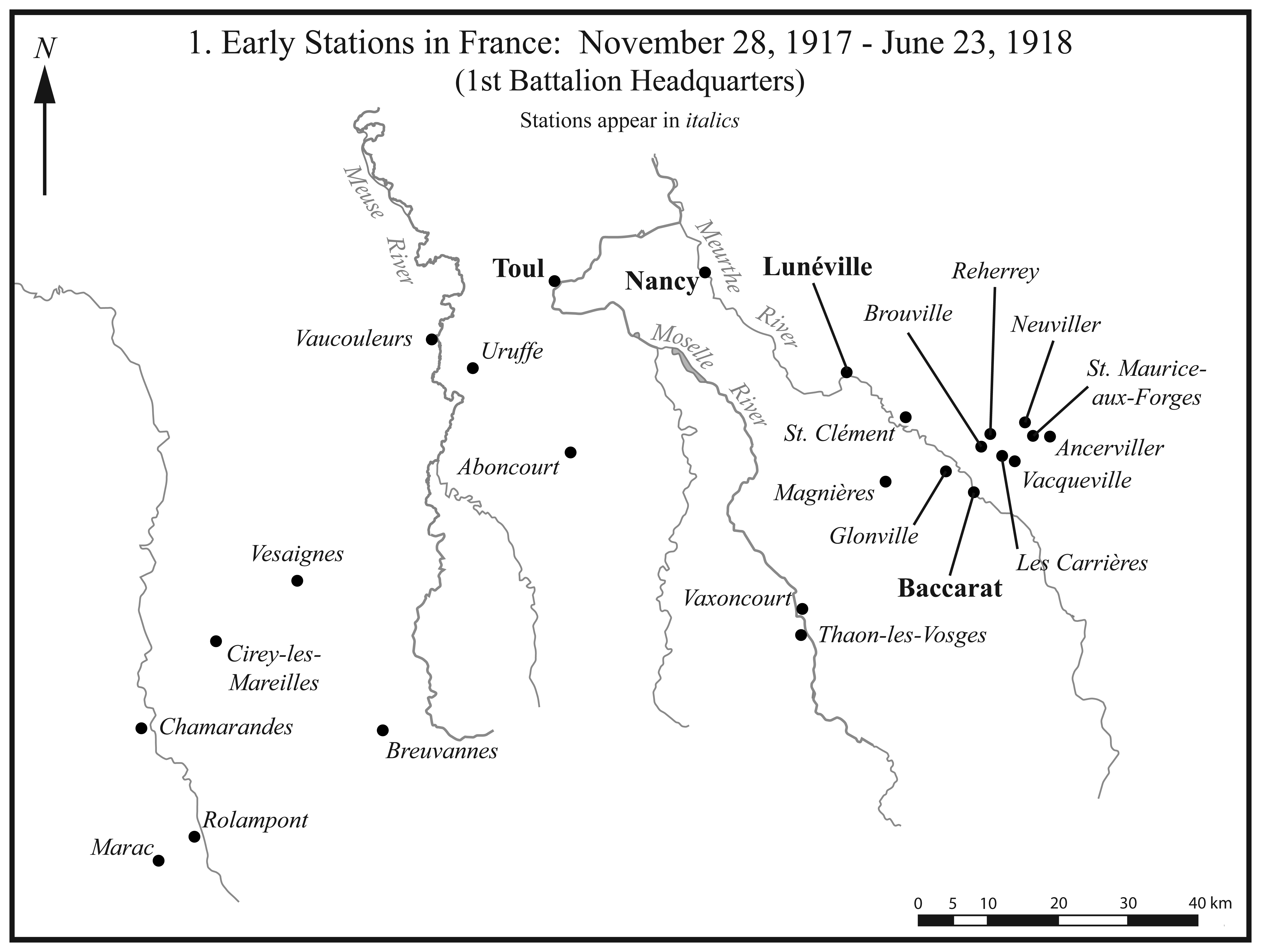 I.1. Early Stations in France.