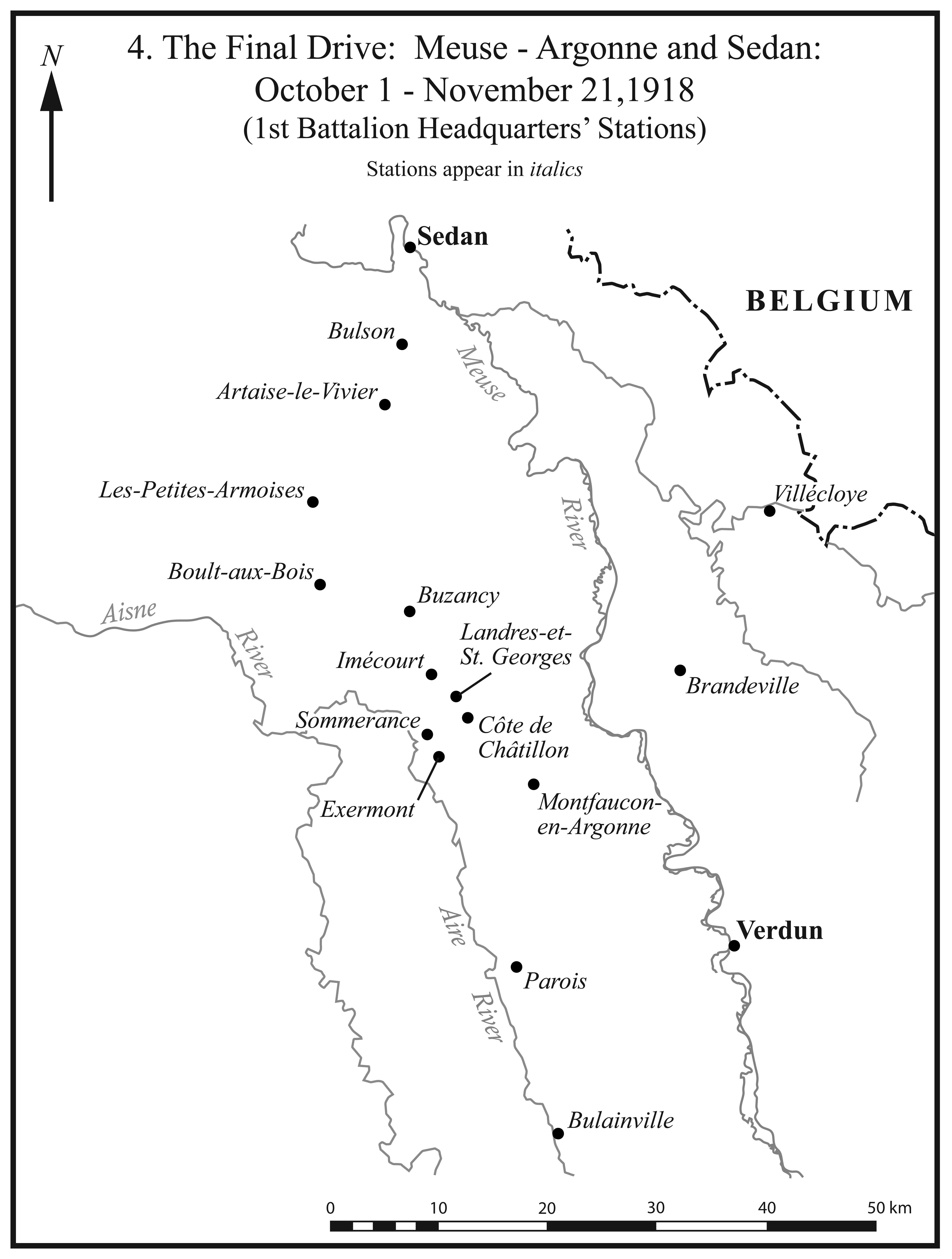 I.4. Meuse-Argonne and Sedan Stations.