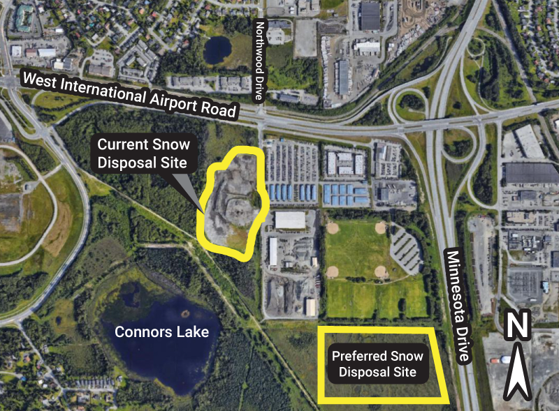 West Anchorage Snow Disposal Project Area Map