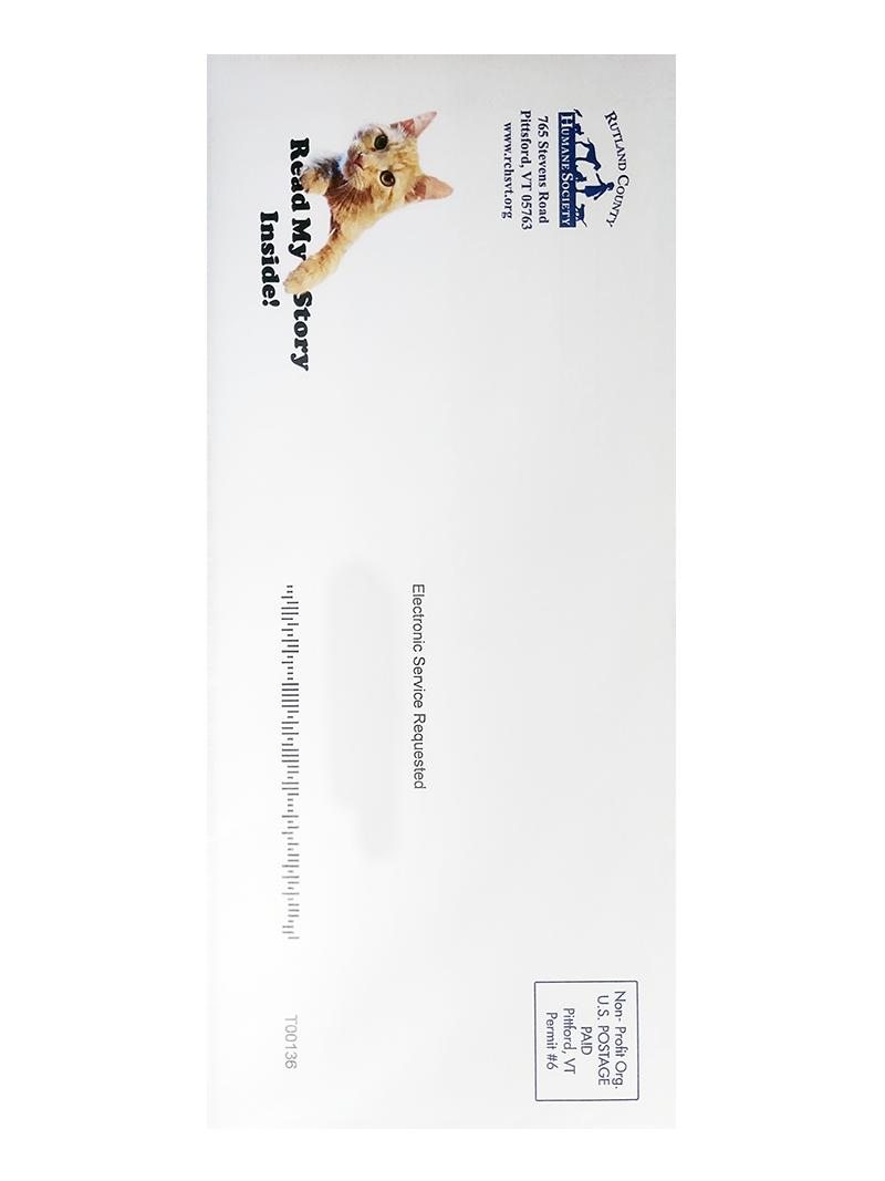 Humane Society Envelope Printed