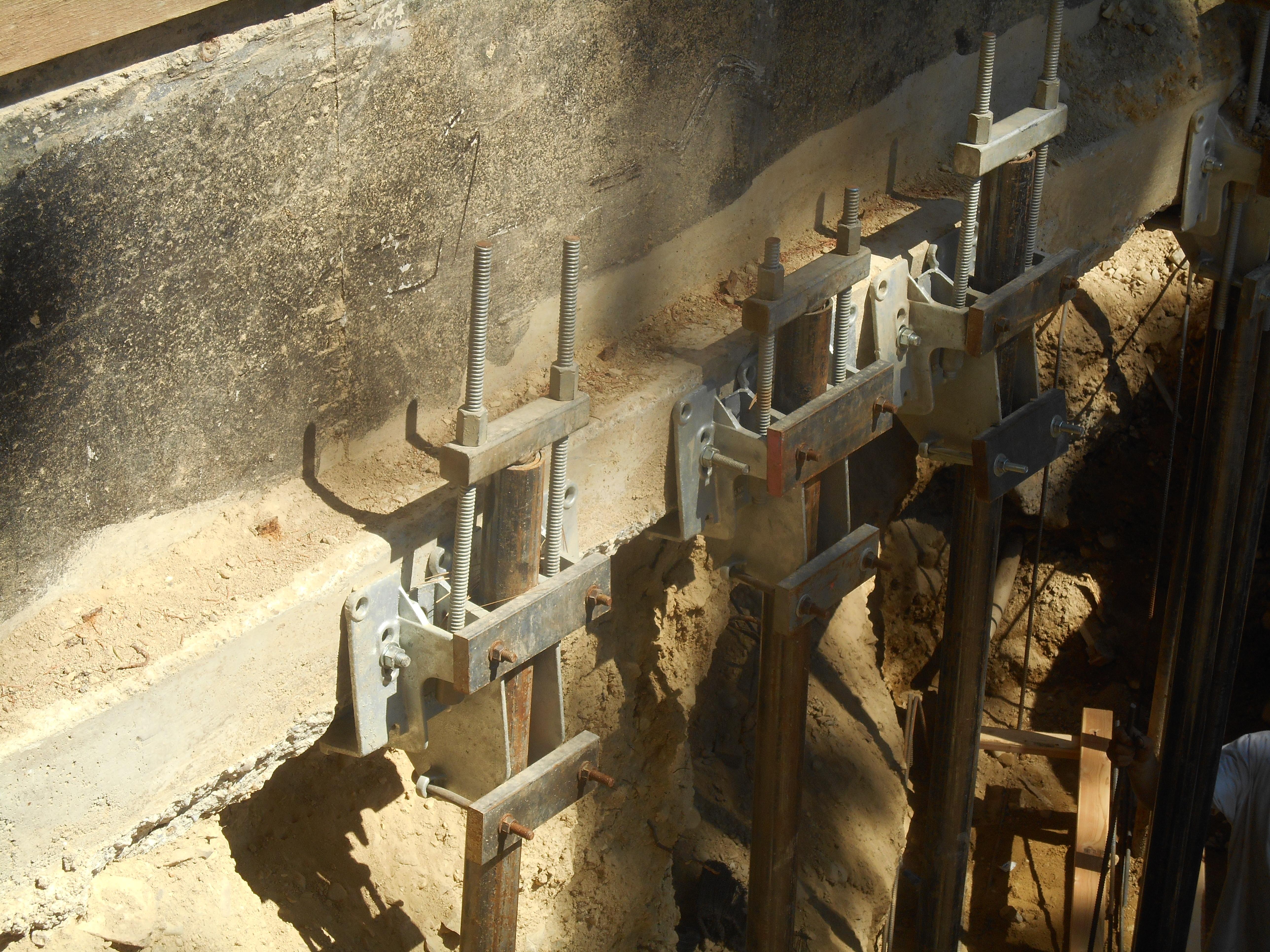 foundation repair pin piles