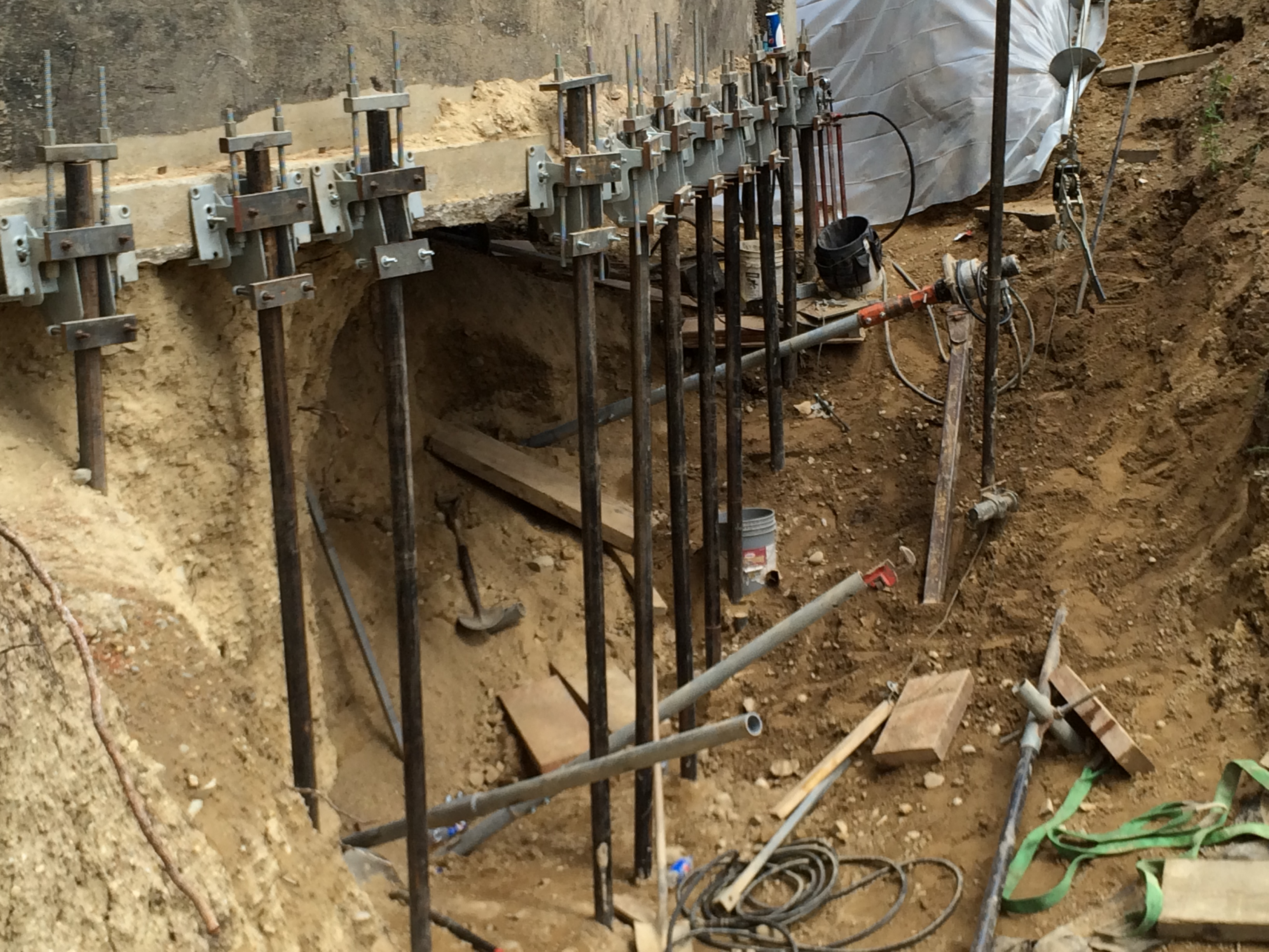 assessment and repair with pin piles