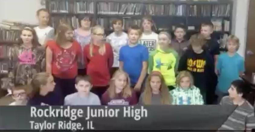 Rockridge Junior High's Channel One promotional video.