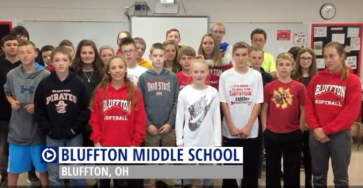 Ohio students light fires in classroom in order to get on Channel One News.