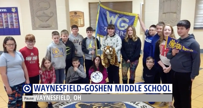 Why aren't Waynesfield-Goshen Middle School students paid for creating this commercial?