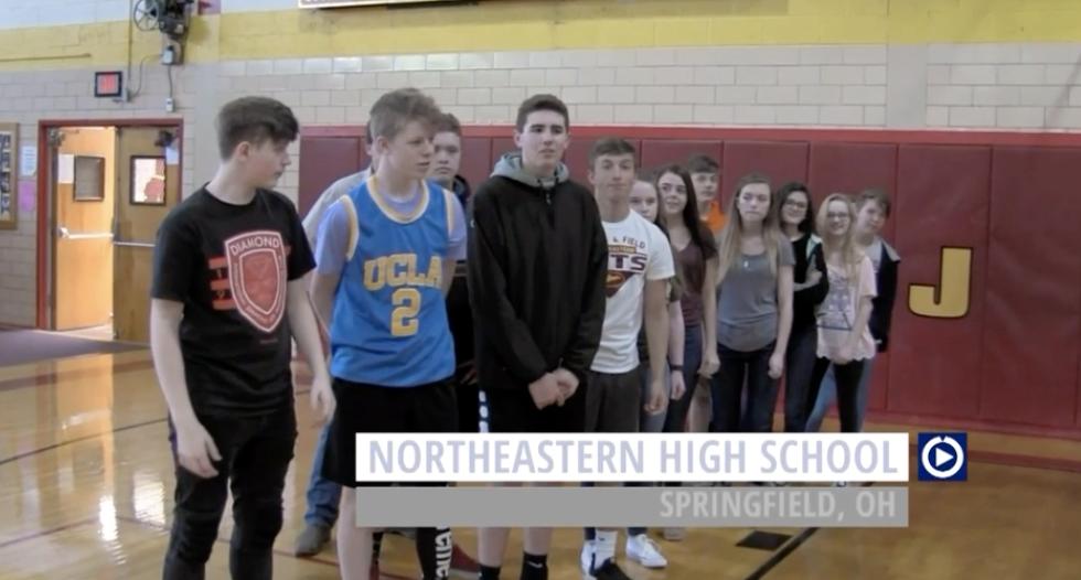 Northeastern High School (OH) goes gaga over Channel One.