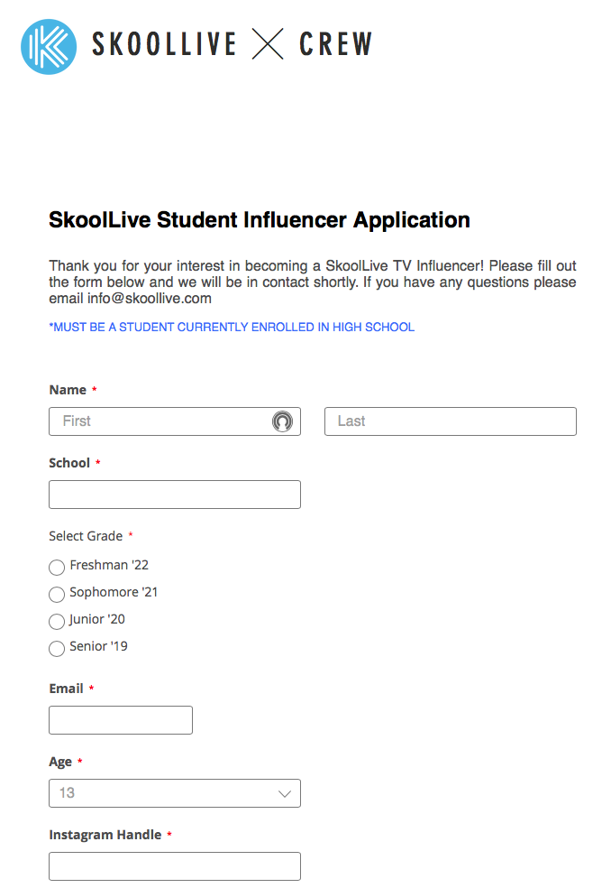 Fool your friends: Skoollive Student Influencer Application