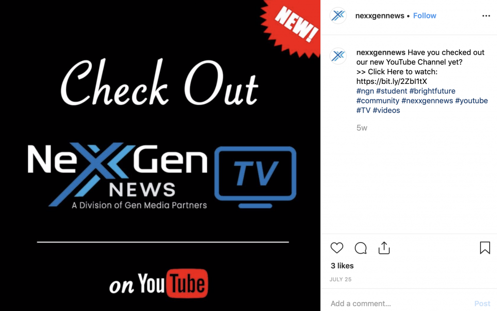 Let's get NexxGen News up to 10 likes.