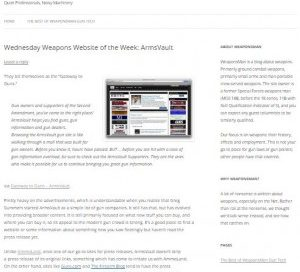 ArmsVault Named Weapons Website of the Week