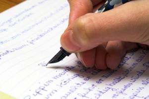 Fountain pen writer