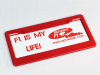 Combined License Plate Frame (#100) and License Plate (#106)
