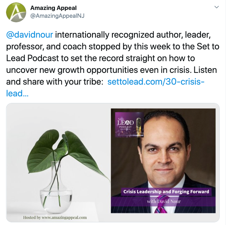 Nour on Crisis Leadership and Forging Forward – Set To Lead Podcast