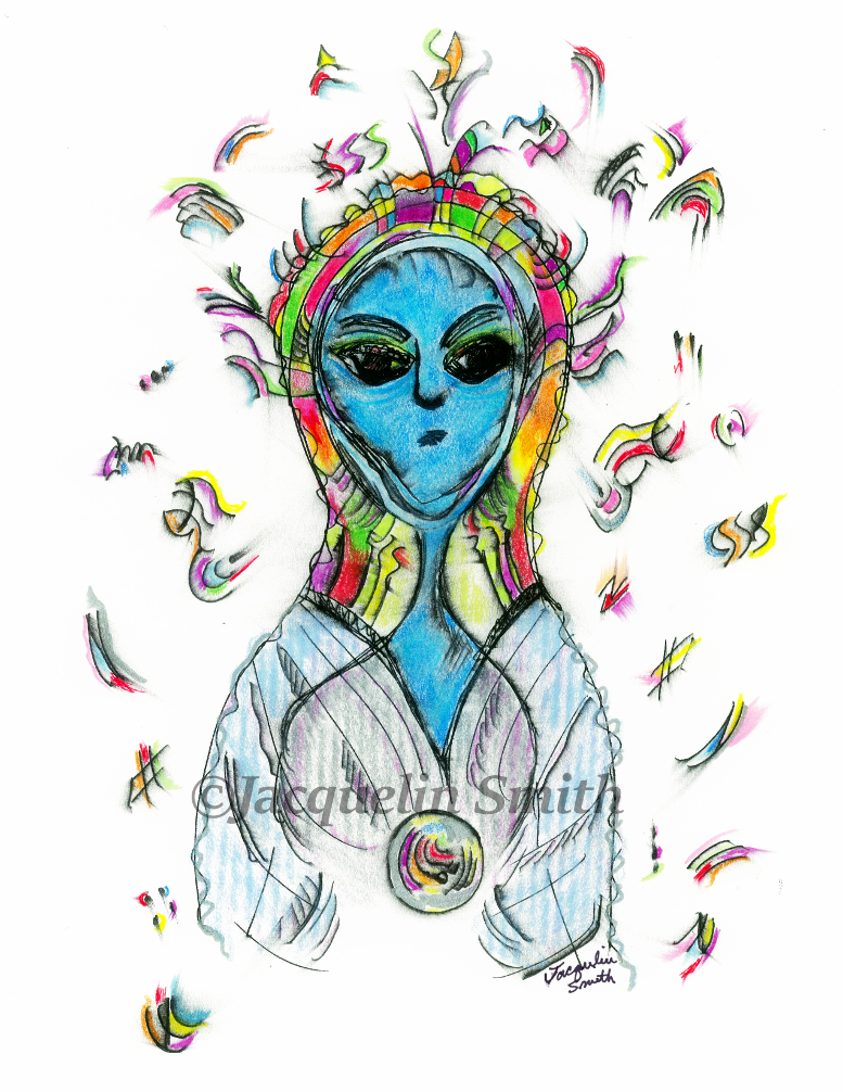 Arcturian Shaman - Zu Kah Shay (androgynous) - Cosmic Portrait
