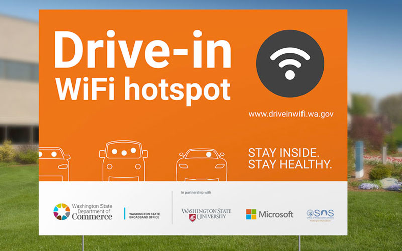 Drive-in Wi-Fi hotspots launch statewide push for universal public access broadband