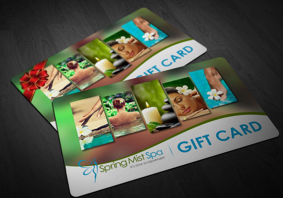 Spring Mist Spa Milton Gift Cards are a perfect Valentine's Day gift