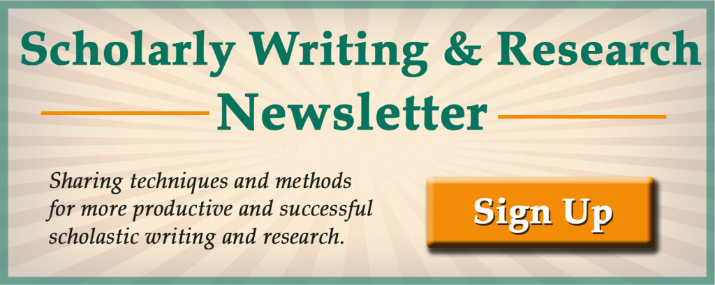scholarly writing and research publications