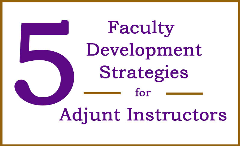 development strategies for adjunct instructors