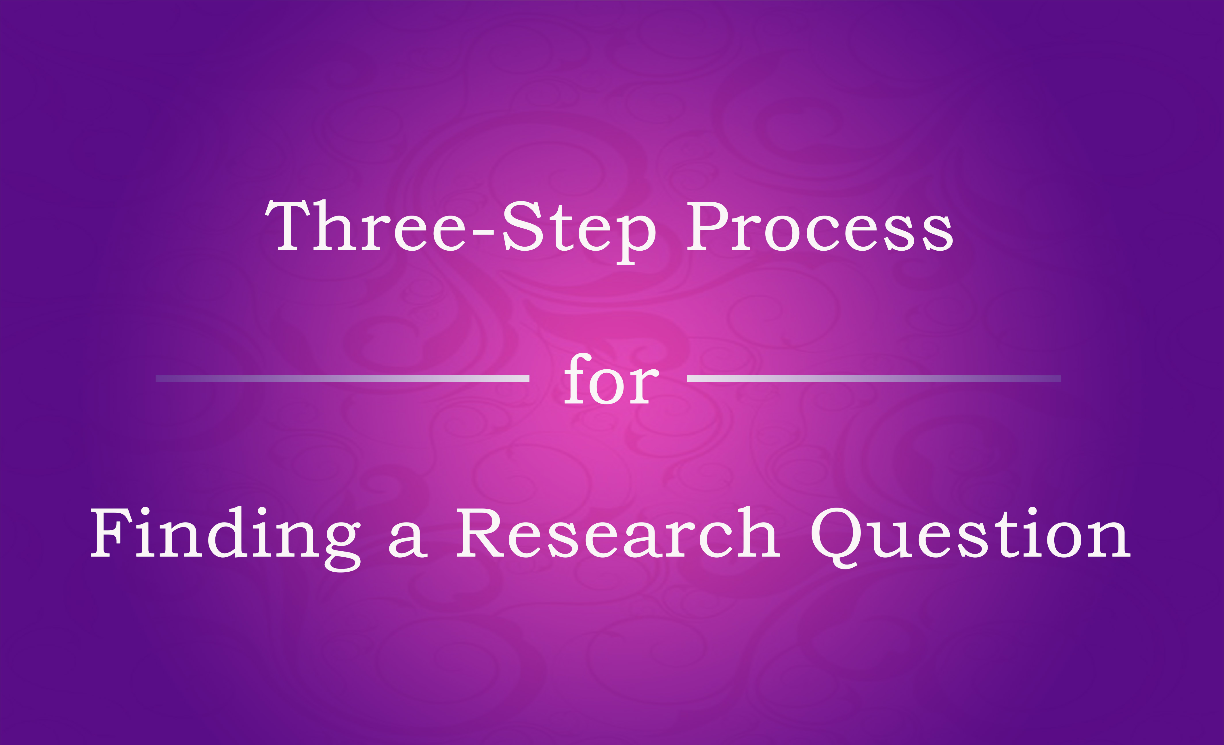 finding a research question