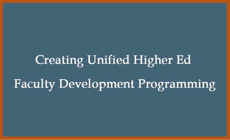 faculty development programming