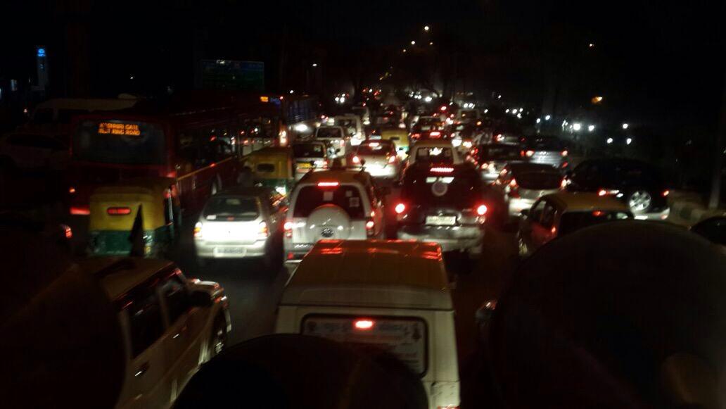 Vehicle Rally Warned Delhi
