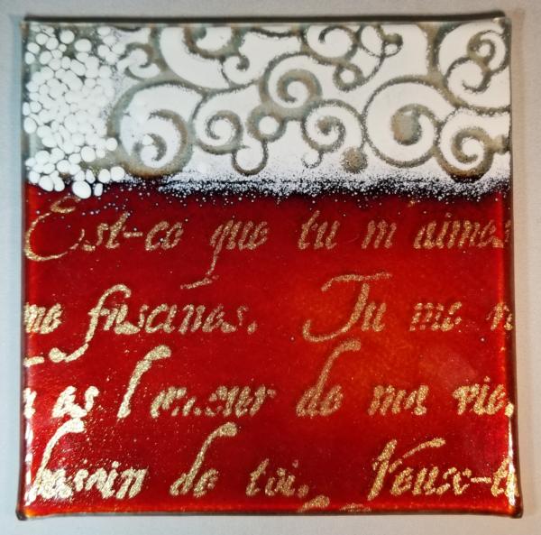 red and white perisian writing