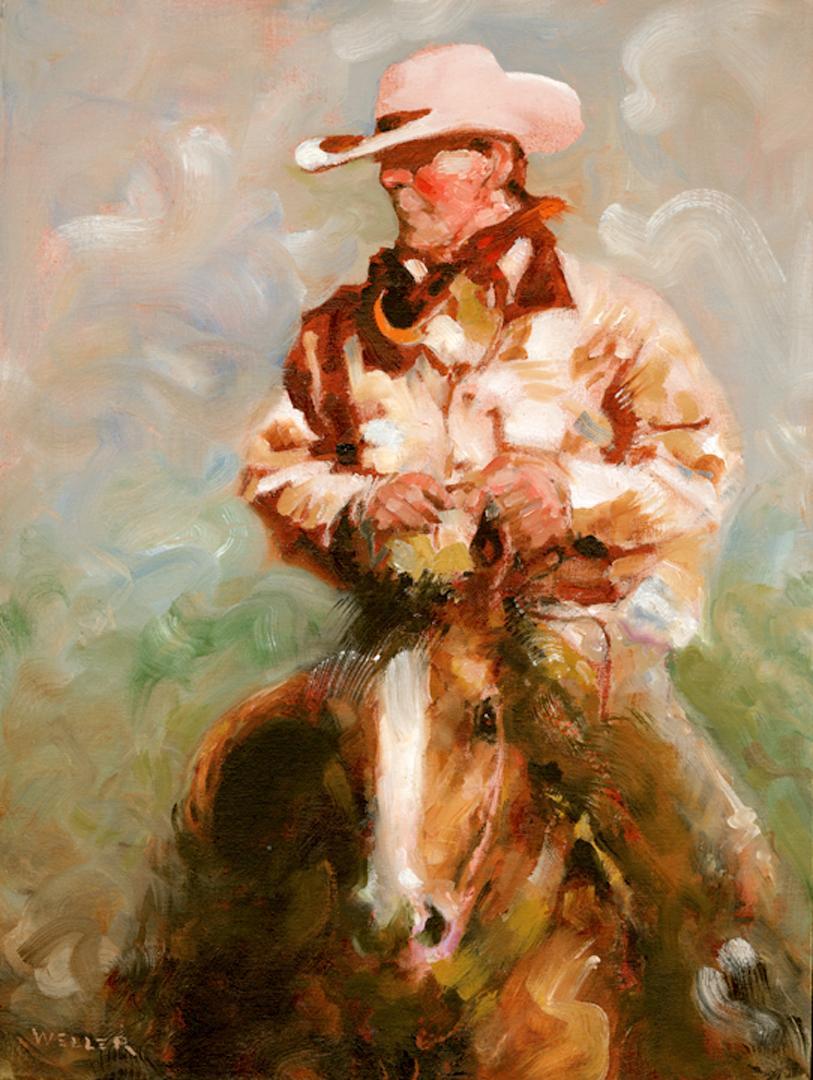 Montgomery-Lee Fine Art   Horseback Big Creek Oil