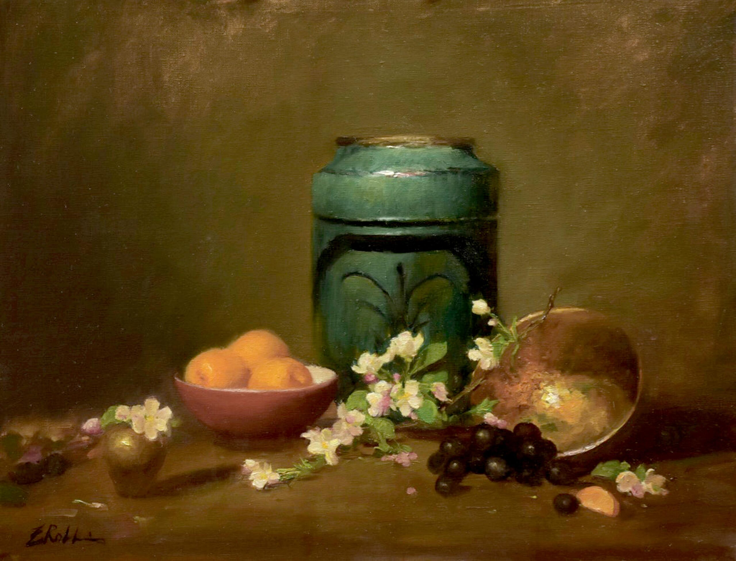 Montgomery-Lee Fine Art | Jade and Blossoms