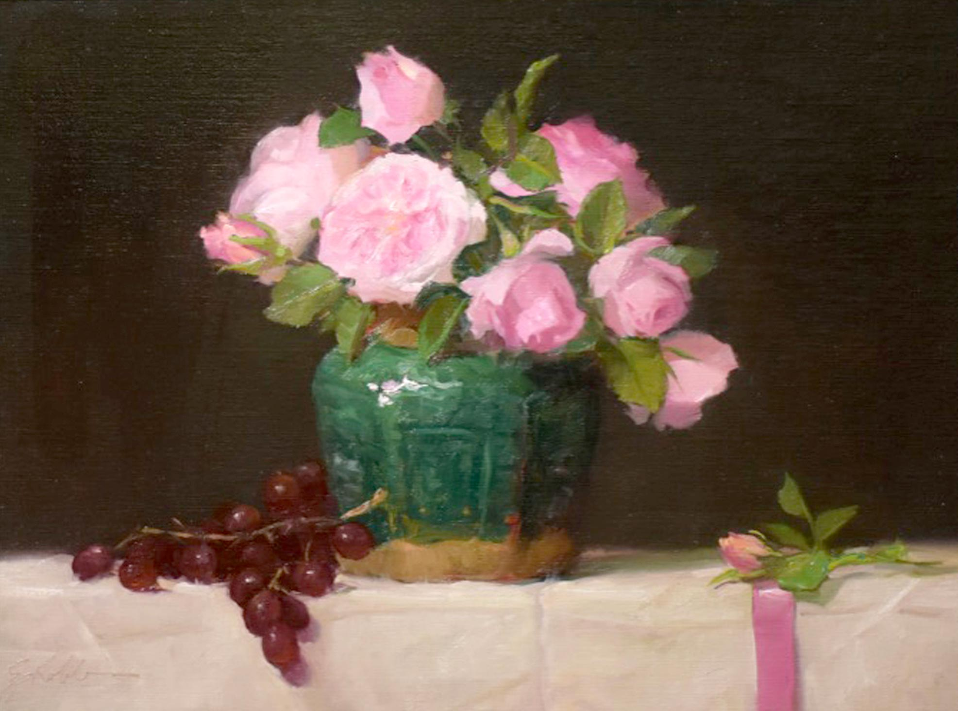Montgomery-Lee Fine Art | Roses and Ribbons