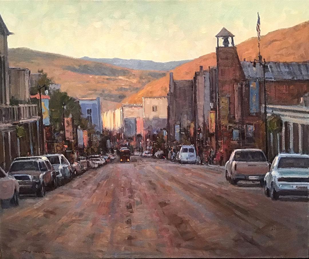 Montgomery-Lee Fine Art   Main Street at Dawn