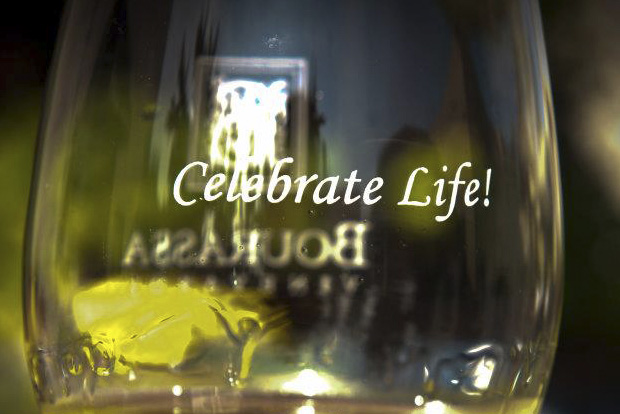 """Vic Bourassa's motto at the vineyard is to """"Celebrate Life""""!"""