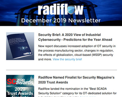 Radiflow Newsletter, Dec 2019