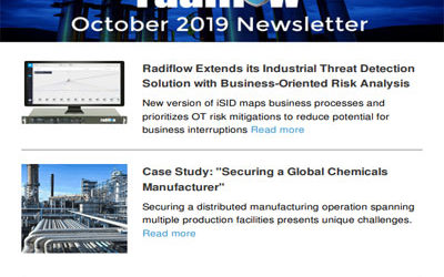 Radiflow Newsletter, October 2019