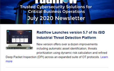 Radiflow Newsletter, July 2020