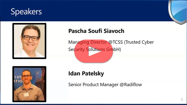 TCSS-Radiflow Webinar: Current State of Players, TTPs and Best Practices