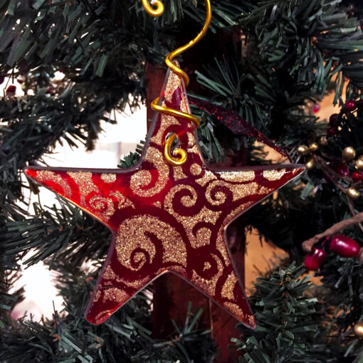Christmas Star Red Gold
