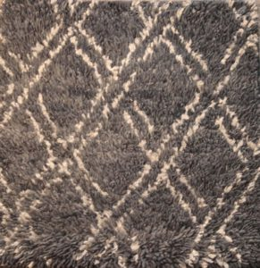 Diamond Grid Shag Rugs