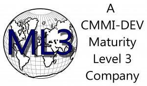 CDI Logo CMMI ML3 - Global black and white