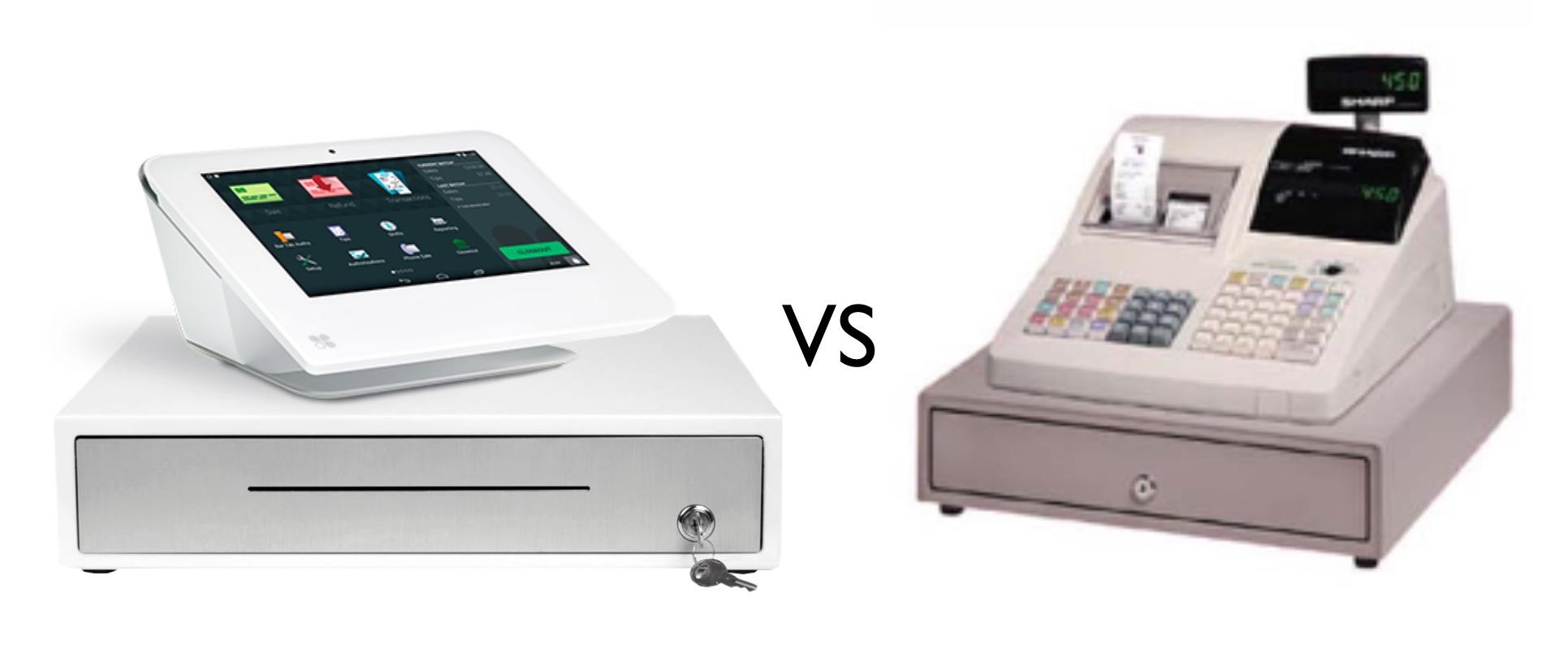 Clover Mini POS versus old looking registry
