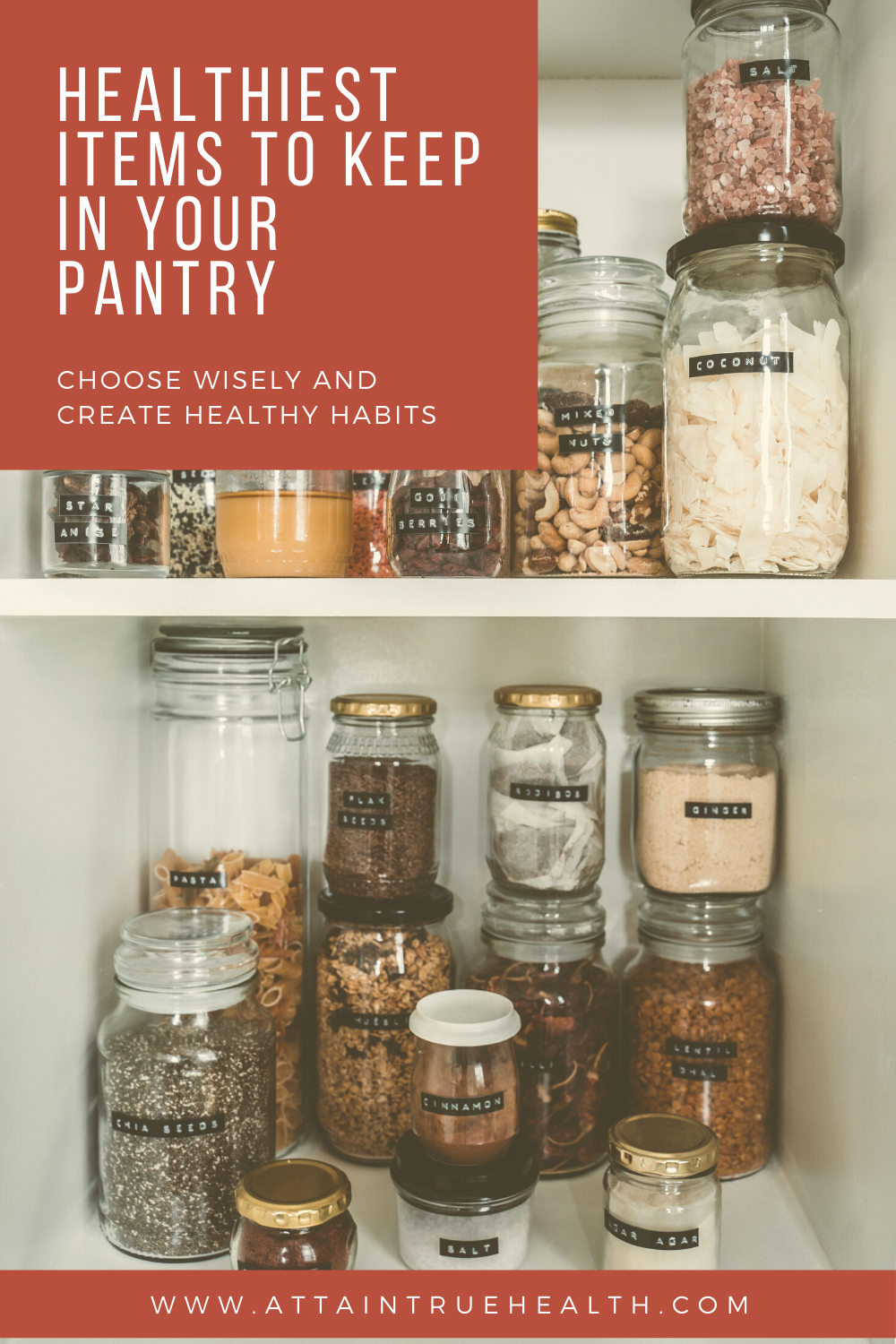 healthy pantry items