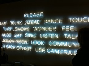 Neon trend at the Armory Show, NYC