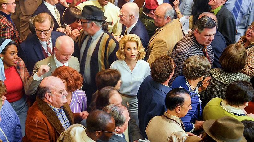 Alex Prager, Face in the Crowd (Film Still), 2013  Three-channel video installation (color, sound) Edition of 3 Image courtesy of Lehmann Maupin, NY