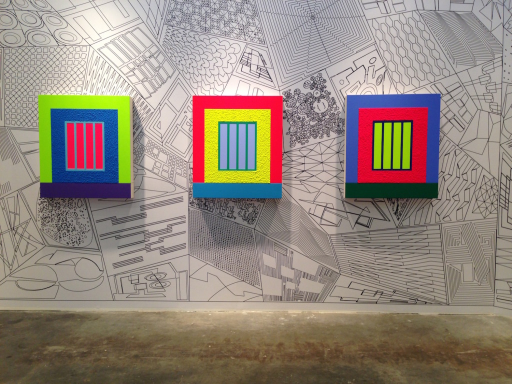 Peter Halley, Galeria Senda, Espana, Installation view, ARTBO, 2014, Photograph by Katy Hamer