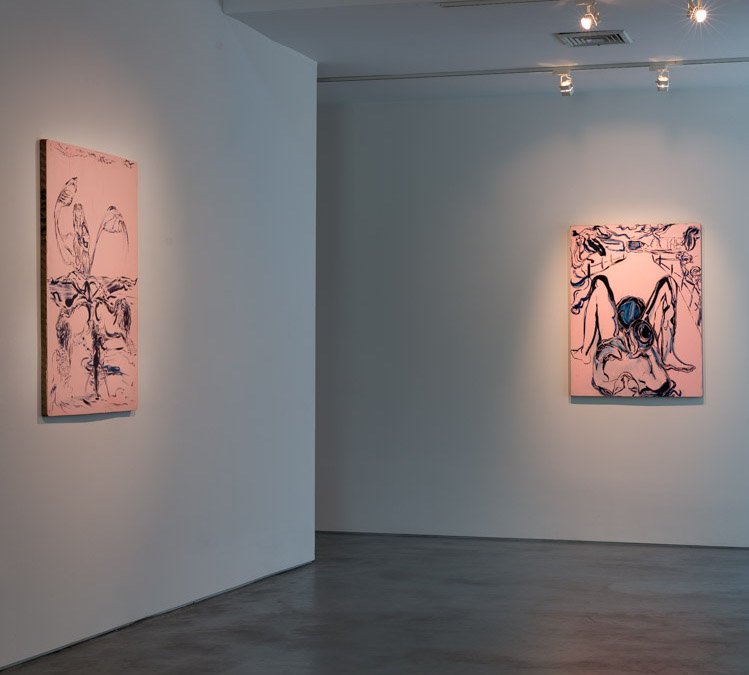 """Lola Montes Schnabel, """"Akashic Records"""" installation view, Courtesy of Tripoli Gallery, Southampton and East Hampton, New York. Photo by Ryan Moore"""