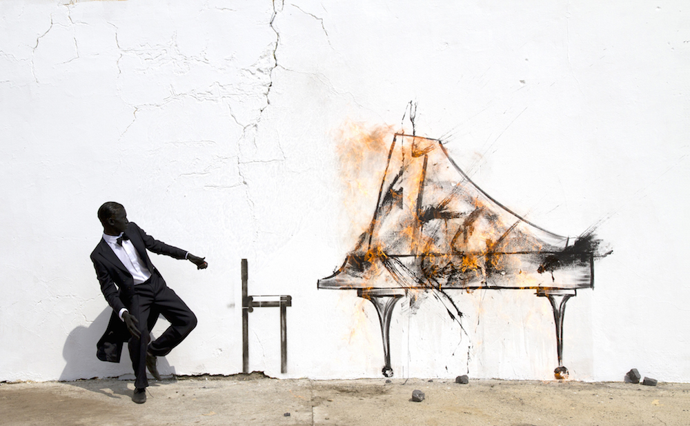 Robin Rhode, Still from Piano Chair, 2011 - Photo Performa and the artist, New York