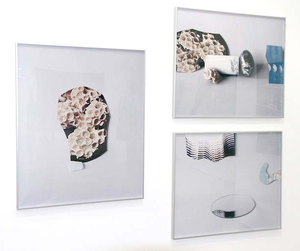 Parisian Laundry (Montréal, Canada) with Celia Perrin Sidarous Photographs from left to right, top to bottom Coral and Sea Glass, 2015, Marble Egg, Seashell and Images, 2015 and The Waves, 2015, Inkjet on matte paper, Installation view at Untitled Miami, image credit Parisian Laundry (Toronto, Canada)