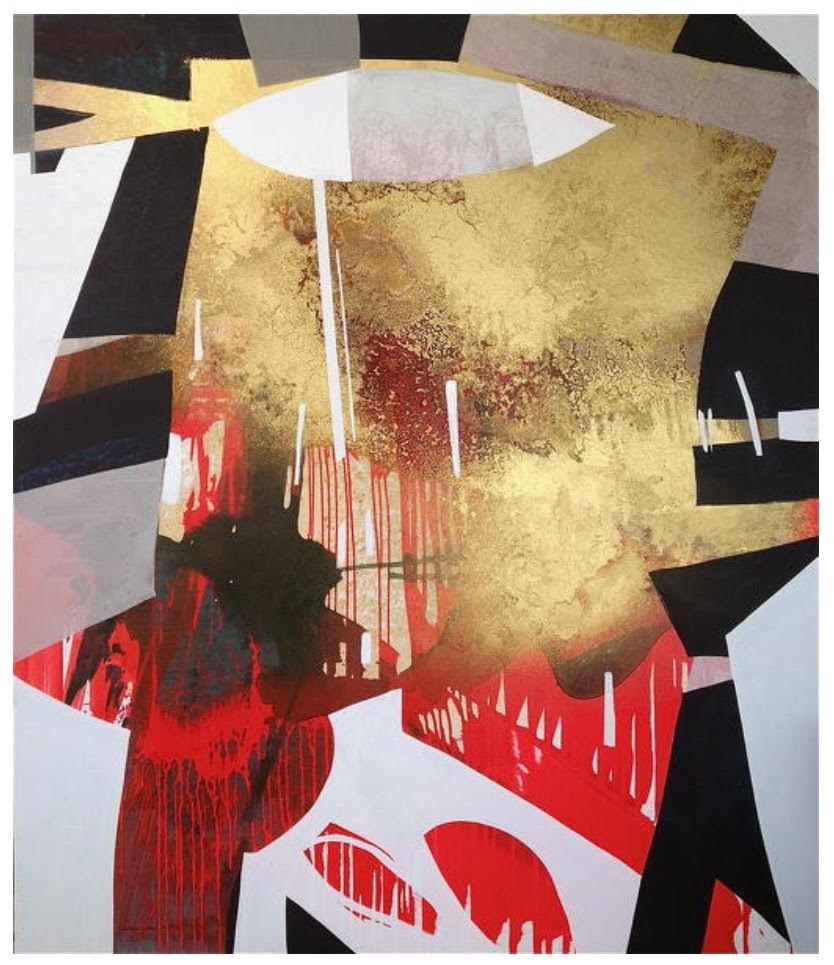 "Erika Ranee, ""Call Me""(2013), - 84 in x 72 in, Mixed Media on canvas, Image courtesy of the artist"